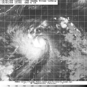 Typhoon Parma 1530Z Oct 1 120 kts, 933mb