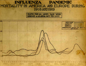 Spanish Flu Death Chart 1918-1919