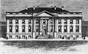 1801 Etching of Executive Mansion
