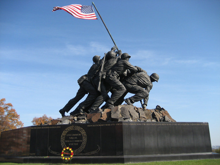iwo jima memorial Fought from 19 february to 26 march 1945, battle of iwo jima was an amphibious attack by the american forces on the island of iwo jima in japan during the second world war lasting for 36 days, the battle saw some of.