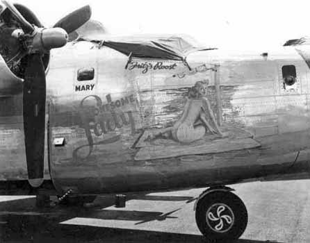 B24 Liberator bomber nose art nose art photographs pin