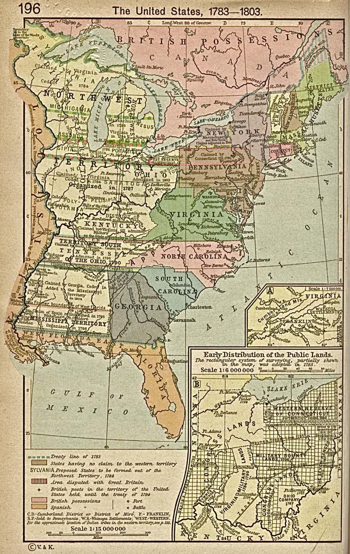 united states map 1783 1803