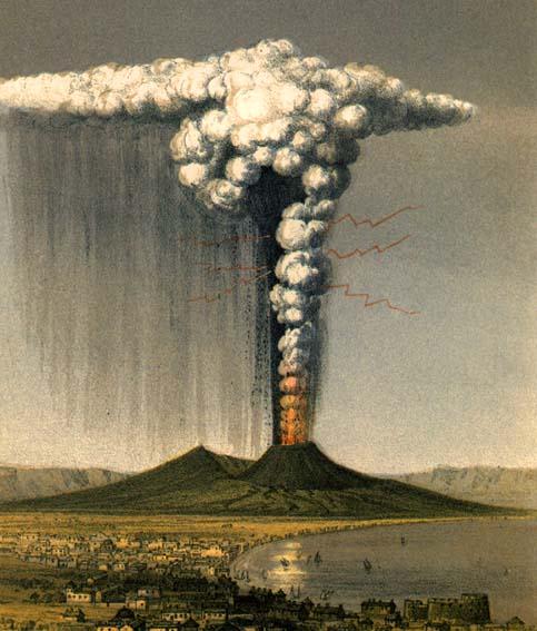 Mt Vesuvius In A Plinian Eruption As Described By Pliny The Younger 79 AD